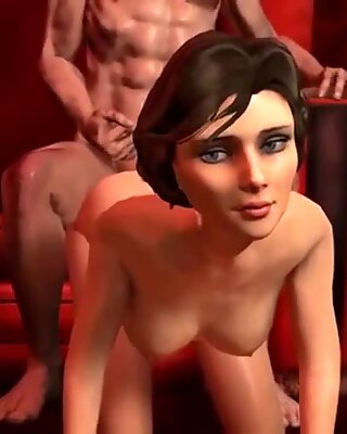 Big boobs 3D blonde babe fucked in this compilation blowjob