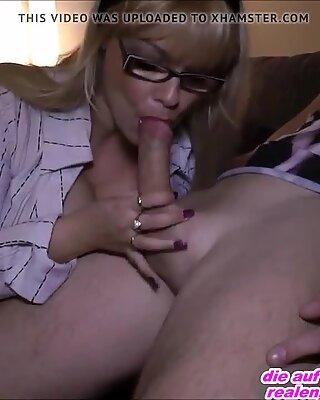 Hot german milf female teacher show how to fuck private
