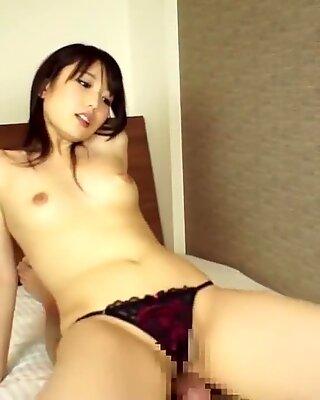 Arimura Chika facesitting and footjob