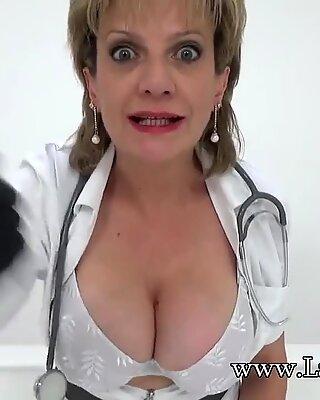 wank off instructions from mischievous nurse damsel Sonia