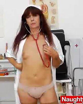 Lada having fun in addition to a latex cock in uniforms