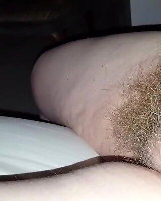 Min kone blød furry behåret fisse