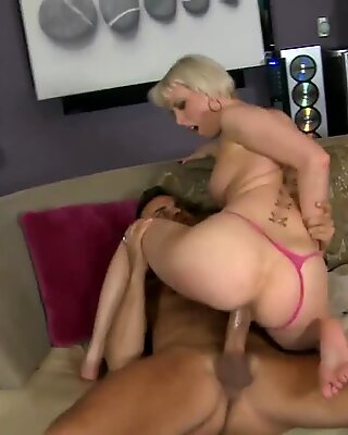 Wet cunt of a bitch is hammered hard