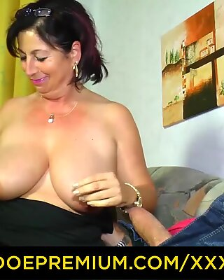 XXX OMAS Curvy German mature sucks and rides cock