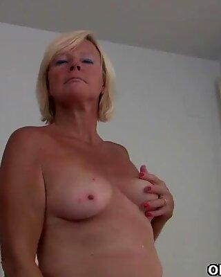 The feel of nylon sends mom into a masturbation frenzy