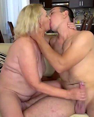 Granny enjoys hard cock