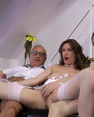 Mature stockings brit cum