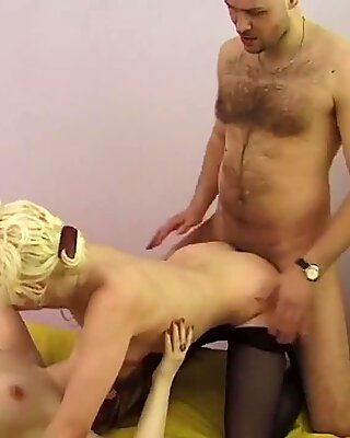 Spicy lesbian bombshells are stretching and fisting anal holes