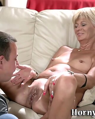 Old woman fingerfucked
