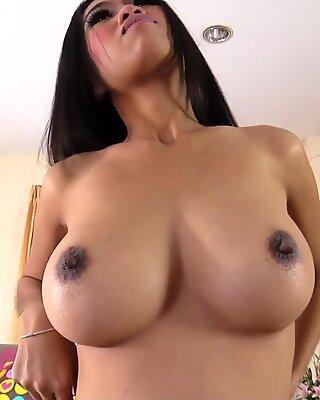 Big tit Thai beauty Panyaporn filled up with cum