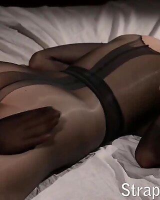 Pantyhose encasement with strapon