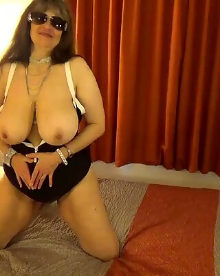 Tinja Unzips Black Bathing Suit To Release Her Juicy Breasts