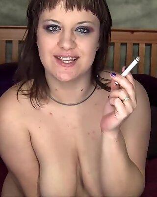 Smoking Step mother humiliates You - ALHANA WINTER - Found Taboo Spy videos