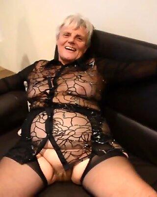 Old Granny in Nylons