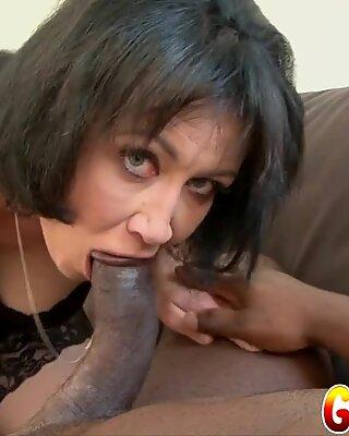 Granny Vs BBC - Hairy Mature Eva