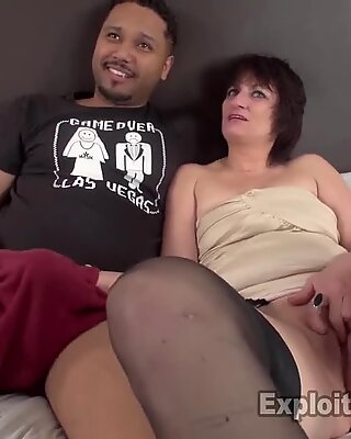 cougar deep-throats black bone