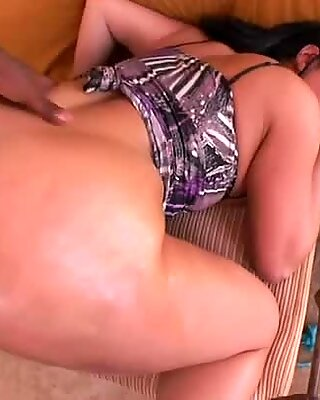 Black haired BBW beauty Kendra Star pleases two BBCs at the same time
