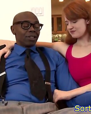 Real stepdaughter pussylicked by black stepdad