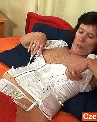 Naked grannie cuddly corset