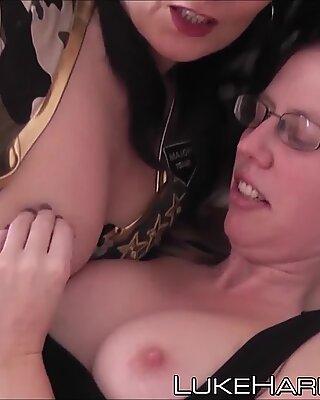 Two hard rammed British sluts got a taste of Lukes fat cock - Emilia A
