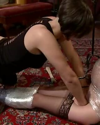 Super hot dark hair babe Bobbi Starr gets hot and heavy with a friend.