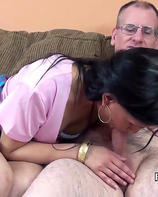 Exotic MILF Naomi Shah getting banged by a lucky g