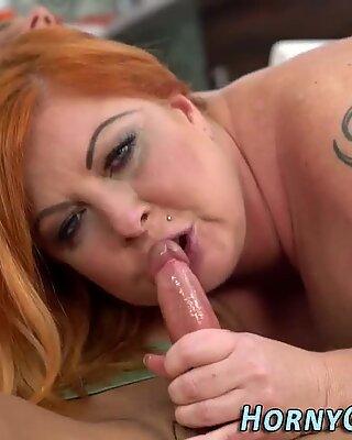 Old redhead sucks for cum