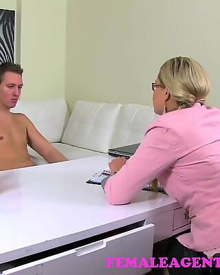 FemaleAgent. MILF uses all her persuasive powers to get to studs tasty cock