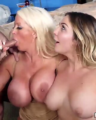 White milf and perverted granny xxx Stepmoms Little Helper