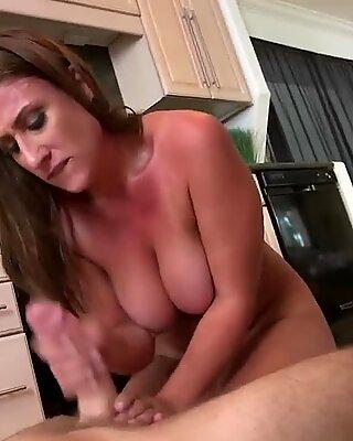 Brunette Milf Skyler Rides Big Schlong In Kitchen