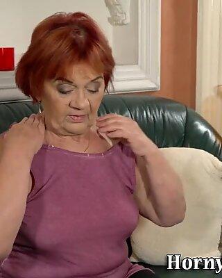 Plump grandma pounded