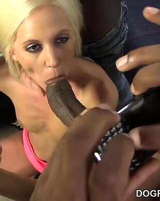 Dirty MILF fucked in interracial gangbangReport this video