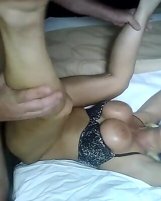 WORLDS greatest BONDAGE FUCK PERFECT  HUGE OILY TITS PRETTY SLAVE SPLIT wide open FUCKED highly HARD