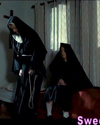Busty les nun tongues