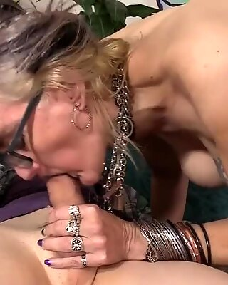 Exotic GILF Lilith enthusiasm Blows and Mounts Her youthful BFs dick