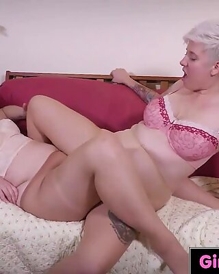 Chubby lesbian rimming and pussy licking