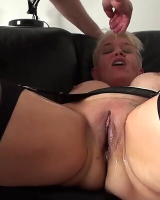 Mature face fucked sub