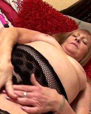British granny getting her old pussy wet
