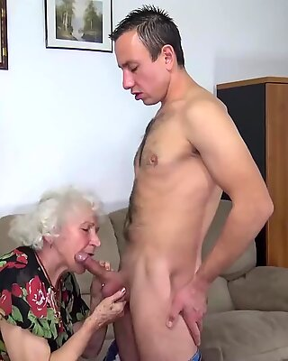 Curvy 91 Years Old Mom Fucked by Toyboy