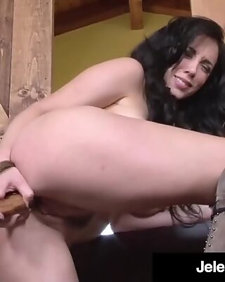 Hot Long Legged Jelena Jensen Dildo Drills In Cowboy Country