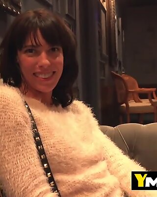 Fancy hot mommy likes to hunt big cocks outside hotels to get penetrated from behind inside the room