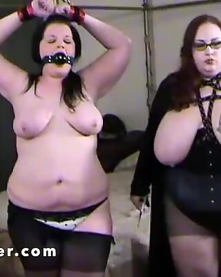 Huge tits Mama hands out a severe ass whipping
