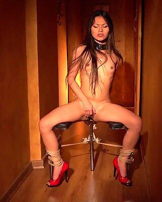 Asian Slave Girl teasing