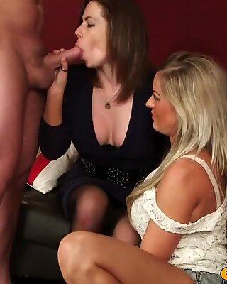 Cfnm hottie Charlie Holays sucking cock