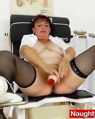 Awesome busty grandma boobies and muff gyno examination