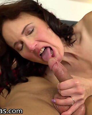LustyGrandmas Hot GILF Enjoys Fucking With Her Favorite College Boy