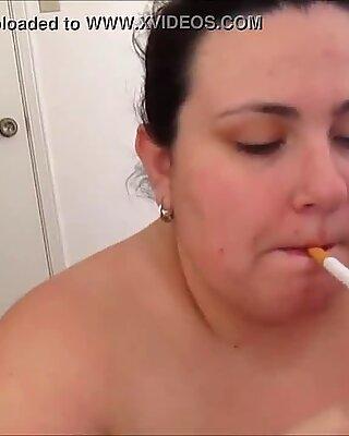 Big Girl Smokes and Sucks Cock