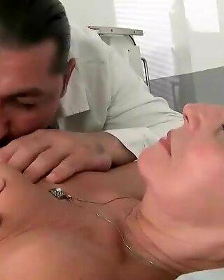 Horny doctor fucking hot granny