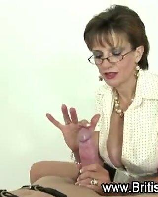 Mature femdom bondage oral job