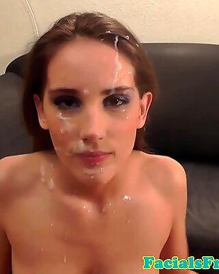 Skinny amateur facializedReport this video